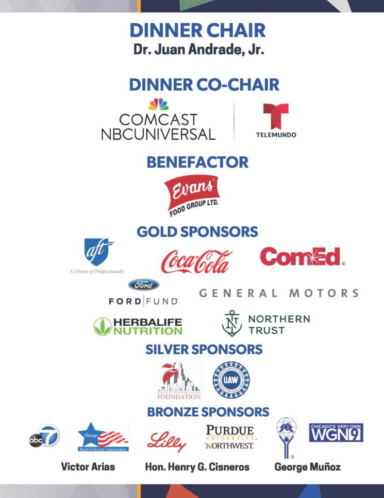 Sponsors for the Annual Dinner